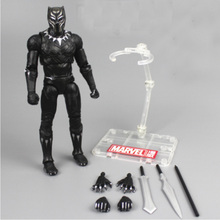 Marvel Action Figure Avengers Black Panther Toys Kotobukiya Artfx Statue Scale Pre-painted Model Kit Pvc Collectible Model