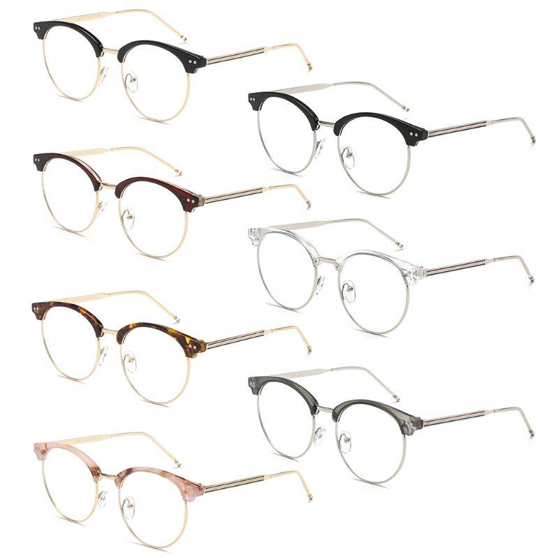 Vintage Round Women Eyeglasses Metal Frame Spectacles Glasses Transparent Frame.