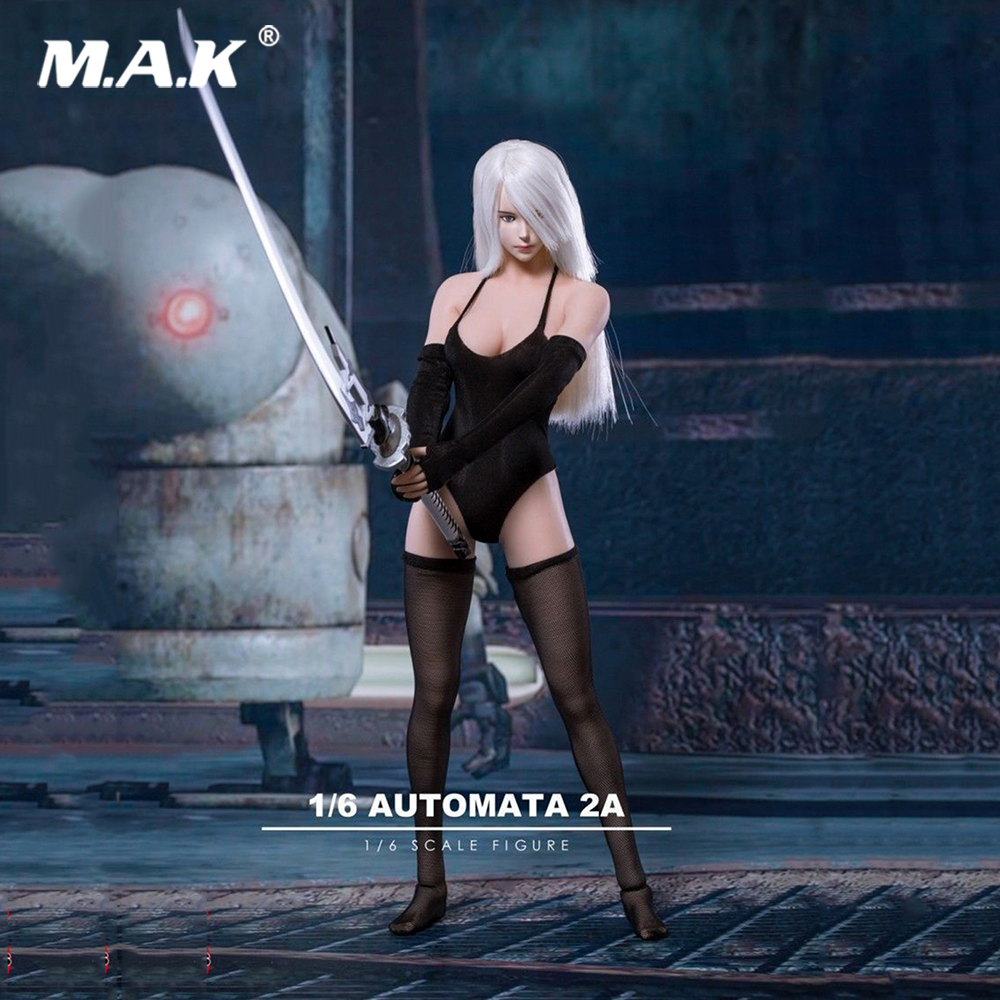 Femme Sexy 1/6 Robot 2A NieR tête sculpture + épée + mains pas de corps 1:6 NieR: Automata A2 femme tête sculpter avec épée F TBL Figure