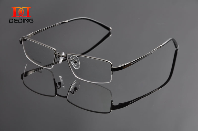 Deding титана прозрачные линзы миопия очки кадр высокое качество мужские титана очки Armacao de óculos де грау MasculinoDD0953