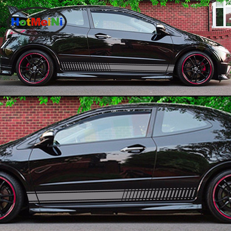 HotMeiNi Car Styling 2x Decal Car Sticker Graphic Stripe Kit for HONDA Civic Type R FN2 Spoiler Carbon Lamp Accessories Decor hotmeini 15x3cm car styling i am not lost decal car sticker vinyl funny bumper jdm 4x4 suv offroad waterproof accessories