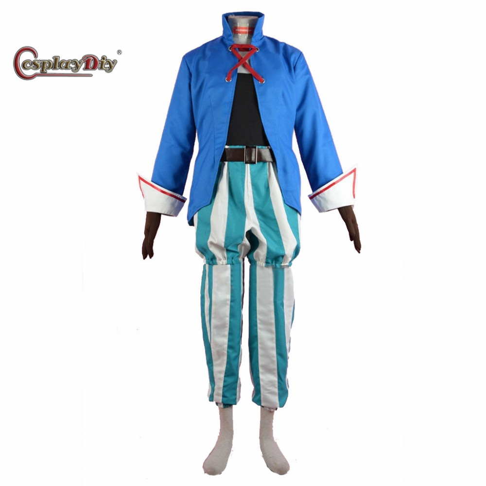 Cosplaydiy Game Final Fantasy IX Role Vivi Orunitia Adult Men Halloween Carnival Cosplay Costume Custom Made J5 ...