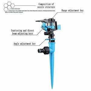Image 4 - Bahçe Sprinkler Otomatik sulama Çim Çim 360 Derece Döner Su Yağmurlama 3 Memeleri Boru Hortumu Sulama Sistemi