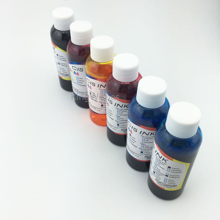 Free Shipping 6PCS x 100ML T0791 T0792 T0793 T0794 T0795 T0796 Edible Ink For Epson 1400 BK C M Y LM LC free shipping 6pcs t0851n t0852n t0853n t0854n t0855n t0856n dye ink for epson t60 inkjet printer bk c m y lm lc