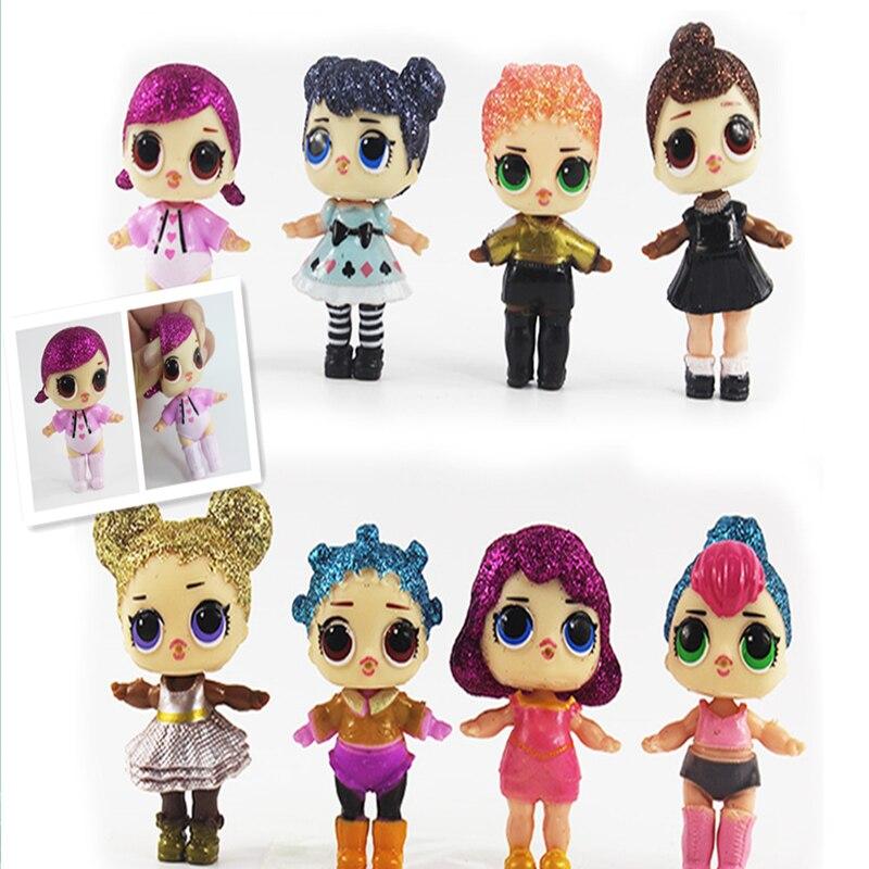 8pcs Hot Sale LoL Unpacking High-quality LoL Dolls Baby Tear Open Color Change Egg Dolls LoL Soft Action Figure Toys Kids Gift