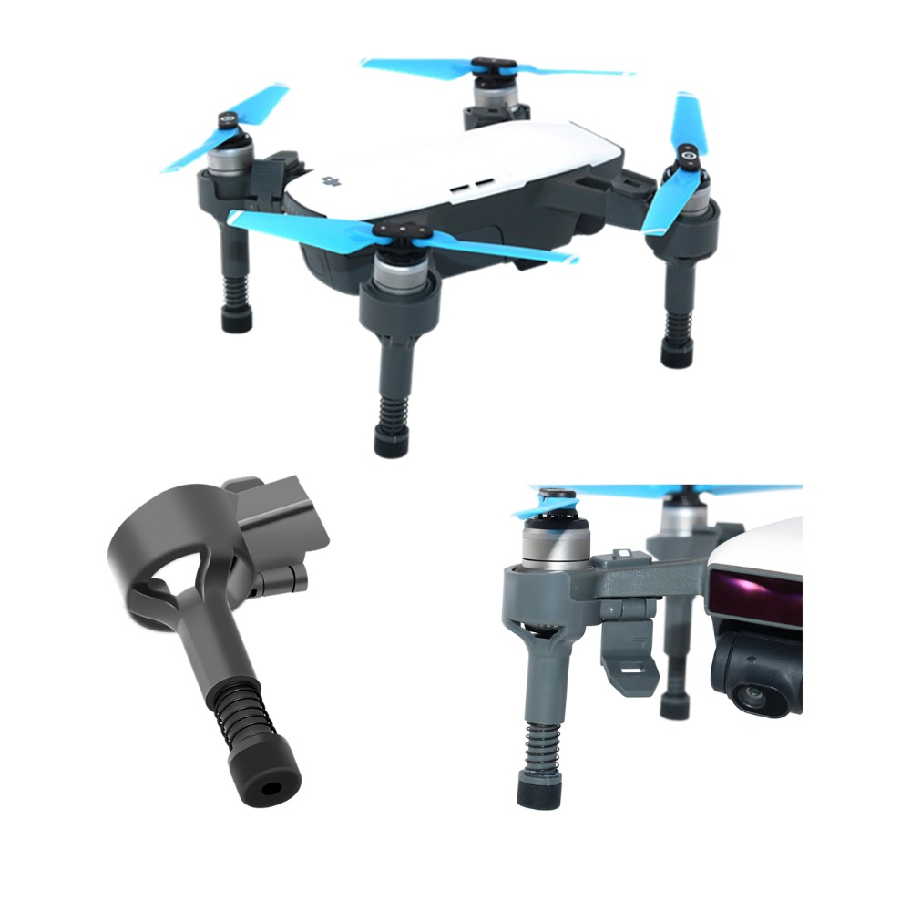 35mm Landing Gear Kits Shock Proof Leg Protection Gimbal Protector For DJI Spark Drone With Spring Feet Camera Guard Spare Parts
