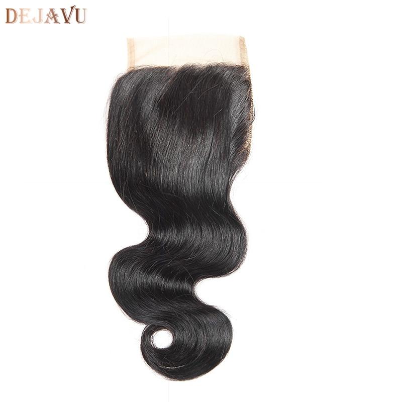 Brazilian Body Wave Hair Lace Frontal Closure 100% Remy Human Hair Closure Dejavu Hair Extension Natural Black