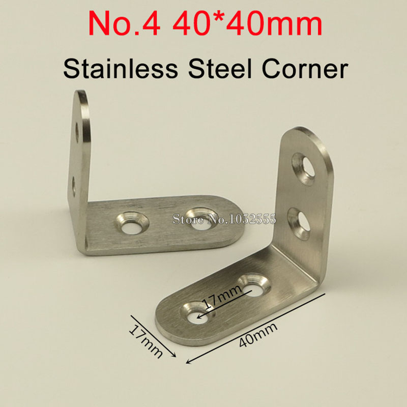 ᗚhot 500pcs Stainless Steel Corner Brackets Metal Right Angle