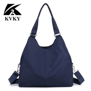 Image 2 - Gorące torebki damskie na co dzień bardzo duże torby na ramię Nylon Tote znane marki fioletowe torebki mumia torby na zakupy wodoodporne bolsas czarne