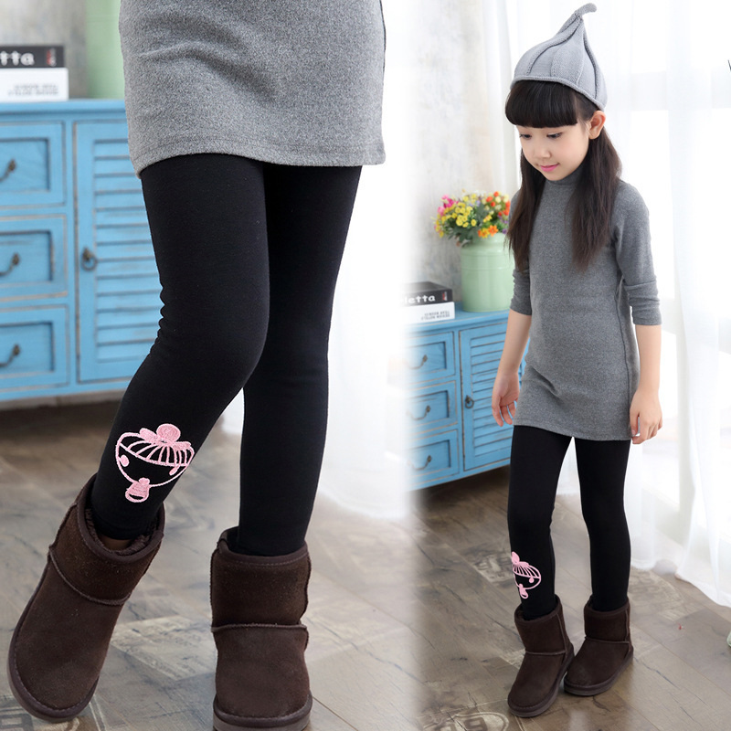 Fashion Cartoon Baby Girls Casual Thicken Skinny Pencil Pants Legging Slim  Trousers Children Clothing Kids Jeggings - Jeggings Kids Promotion-Shop For Promotional Jeggings Kids On