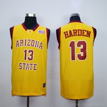 62b0b6482 Throwback Men s James Harden 13 Arizona State College Jerseys White Red  Yellow Stiched Size S-