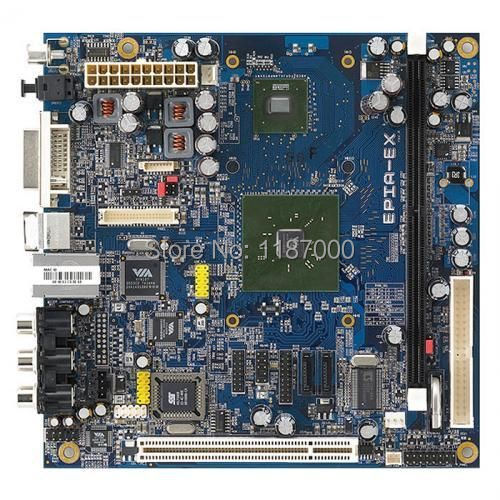 EPIA-EX Vía EPIA-EX10000EG 17 cm x 17 cm placa base DDR2 DVI LVDS Lan SATA IDE PCI de Audio bien probados para 3 Meses de garantía