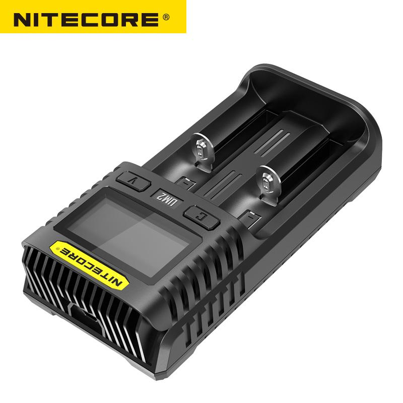 Image 2 - Nitecore UM2 USB Dual SlOT QC Charger Intelligent Circuitry Global Insurance li ion AA 18650 20700 26500 26650 Charger-in Portable Lighting Accessories from Lights & Lighting