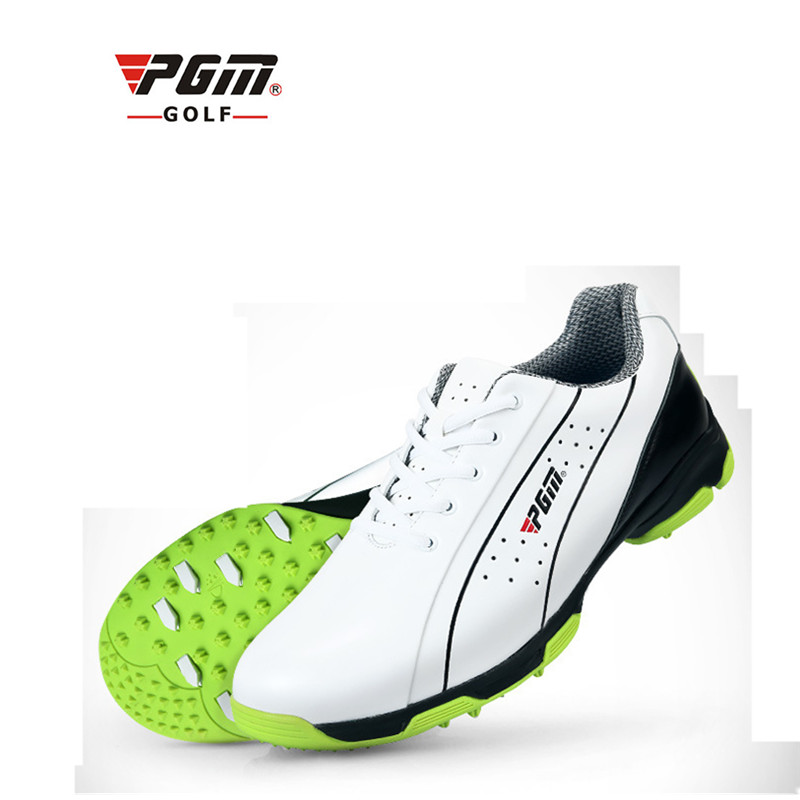 PGM Genuine Leather Mens Waterproof Spiked Golf Sports Shoes Pro Tour Steady Spikes Sneakers Steady&Waterproof XZ060PGM Genuine Leather Mens Waterproof Spiked Golf Sports Shoes Pro Tour Steady Spikes Sneakers Steady&Waterproof XZ060