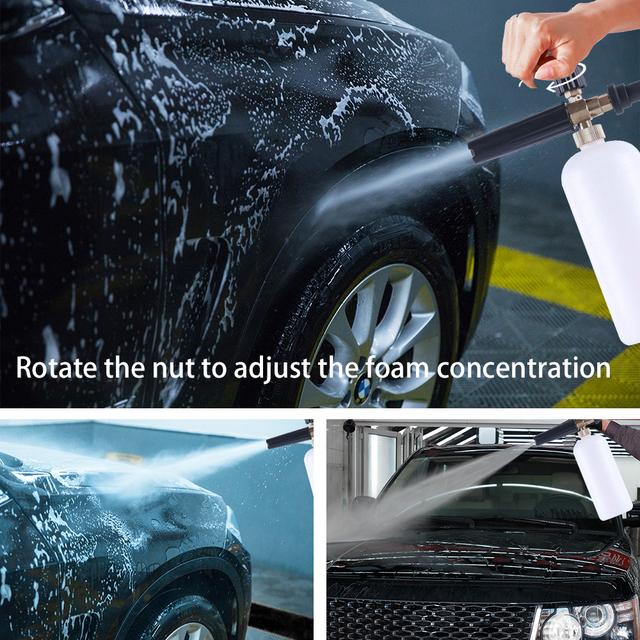 High Pressure 1L Soap Foam Generator Foamer Sprayer Car Foam Gun Weapon Snow Foam Lance for K2 K3 K4 K5 K6 K7 Car Washer