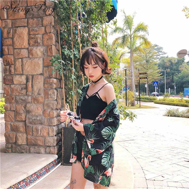 Japon kimono gömlek hırka plaj moda geleneksel japon kimono yukata kadın japon geleneksel kimono CC025