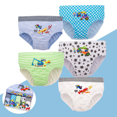 5pcs/lot Boys Kids Cotton Soft Underwear Cartoon Children's Shorts Panties For Baby Boy Boxers Racing Cars Teenager Underpants
