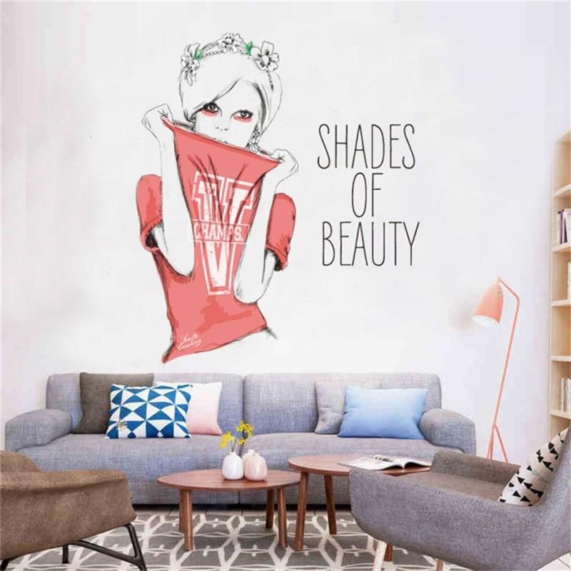 Aliexpress.com : Buy Cute DIY Lovely Girl Art Wall