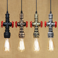 Vintage Industrial LOFT Style Retro One Head Buster Hanging Pendant Lamp With Edison Light Bulb Kitchen