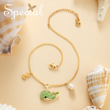The SPECIAL Brand euramerican ocean series starfish whale anklets pearl flatter skin slimming face for women S1817A
