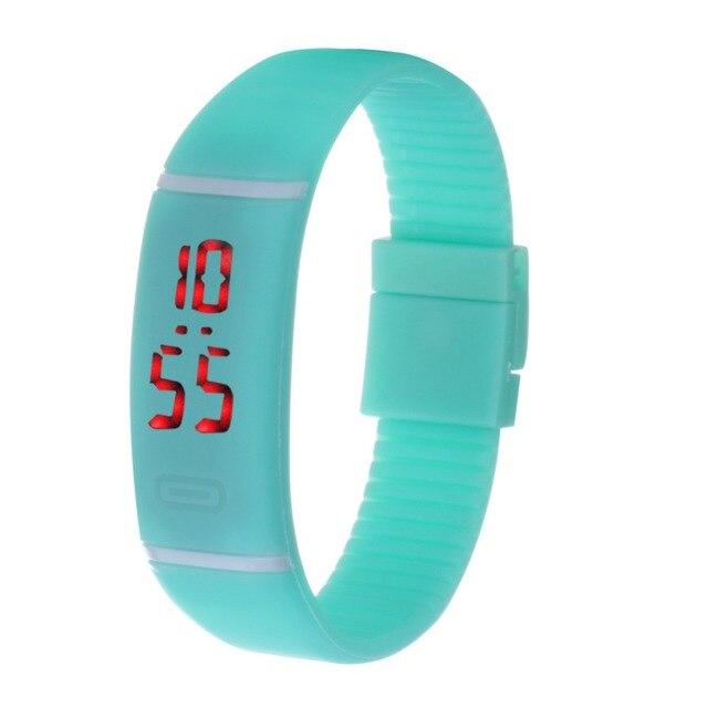 New LED Watches Women dress Fashion Digital WristWatches Men Sport Silicone Brac