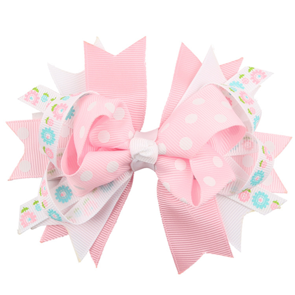 Ha hair bow ribbon wholesale - Dot Hair Clips For Kids Grosgrain Ribbon Bows Hairpins Color Girls Hairpin With Clips Princess Bow