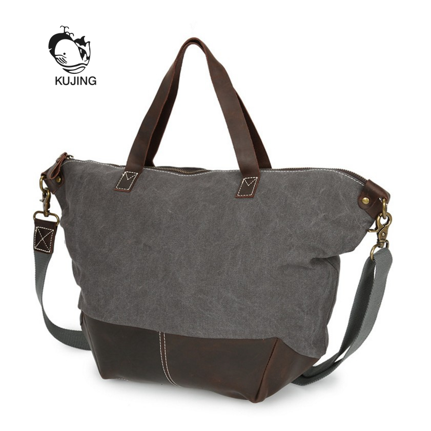 KUJING Feather Handbag Retro Canvas Women's Shoulder Messenger Bag Hot Kraft Business Handbag Luxury Travel Leisure Women Bag цена 2017