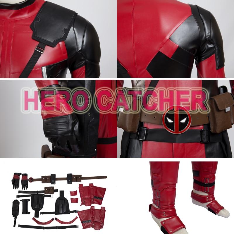 aad76716c US $232.05 9% OFF Hero Catcher High Quality Upgraded Deadpool Cosplay  Costume New Leather Deadpool Costume Custom Made Hero Deadpool Suit-in  Movie & ...