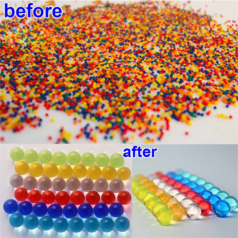 10000pcs/packet Colored Soft Crystal Water Paintball Gun Bullet Grow Water Beads Grow Balls Salt Gun Toys For Kids