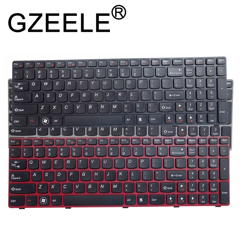 GZEELE English US Keyboard For Lenovo G580 Z580 G580A V580A Z580A G580AH G580AM G580G G585 G585A G585AR B580 G590 With Frame
