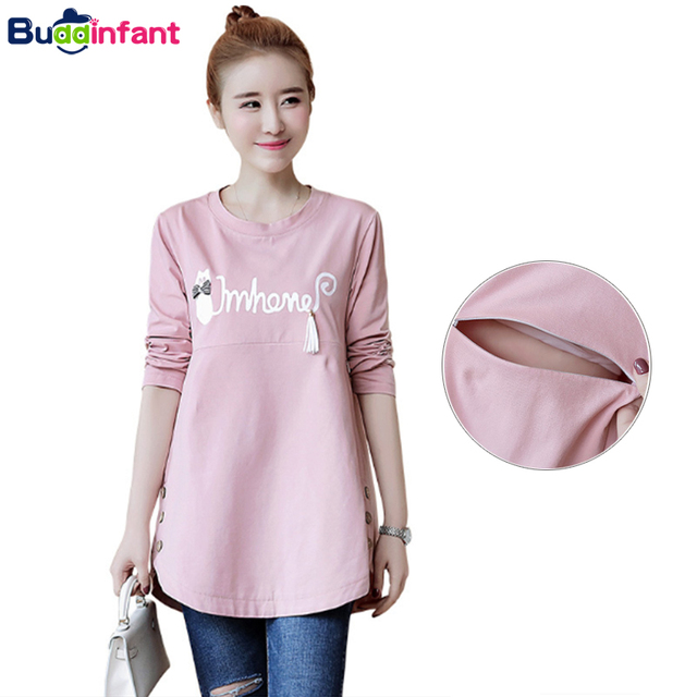 0e849fa5562 Women Pregnant Breastfeeding Clothes Cotton Soft Tees Maternity Tops Nursing  Clothing for Pregnancy Mothers Feeding T-Shirts New