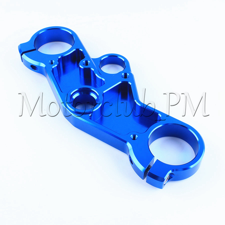 CNC Triple Tree Front End Upper Top Clamp For Suzuki GSXR600/750 2001-2003 2002 GSXR1000 2001-2002 Blue
