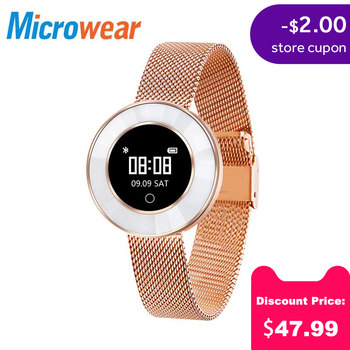 Microwear X6 Fashion Smart Bracelet Sleep Monitor Sport Mode Calorie Pedometer Yoga Mode Fitness Wristband women IP68 Waterproof