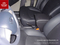 special car accessories FAWoulang dedicated armrest box free punch central console hand box with leather and wooden