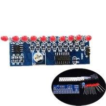 NE555 + CD4017 флэш-лампа DIY Наборы мигающий светодиод suite 2.5-14.5 В 5.4×2.1 см электронные цепи производства Запчасти
