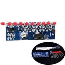 NE555+CD4017 Flash Lamp DIY Kits Flashing LED Light Suite 2.5-14.5V 5.4×2.1cm  Electronic Circuit Production Parts