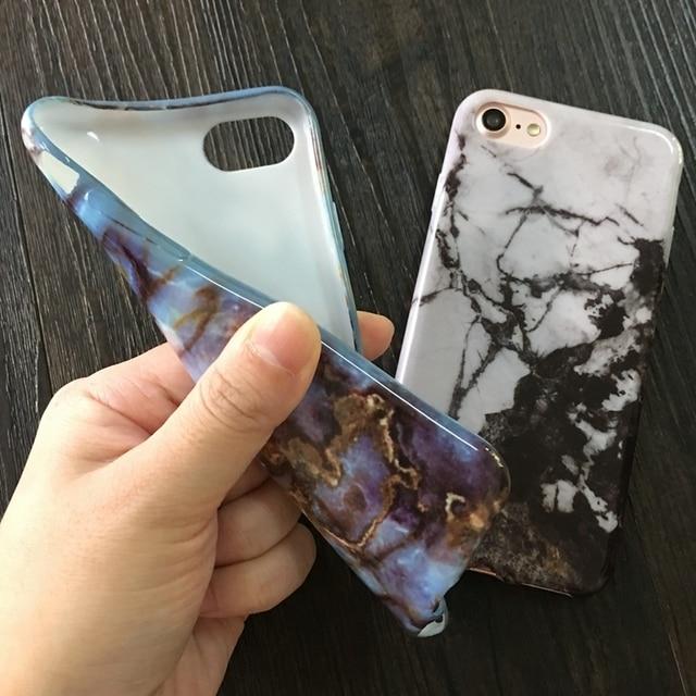 Kerzzil Doux TPU Cas pour iPhone 5S 5 SE 6 6 s 6 plus nouveau Gommage De Granit Marbre Pierre image Peinte Cas De Téléphone Pour iphone 7 7 plus