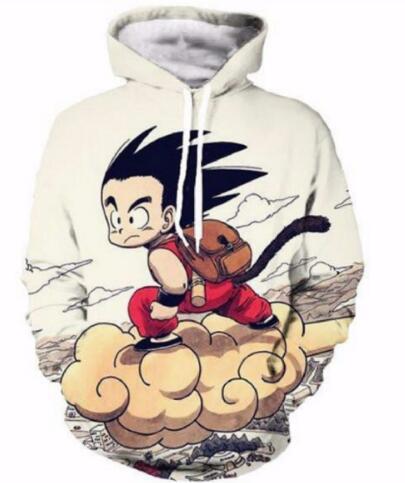 Dragon Ball Z Pocket Hooded Sweatshirts Cute Kid Goku 3D Hoodies Pullovers Men Women Long Sleeve Outerwear Hip Hop Hoodie