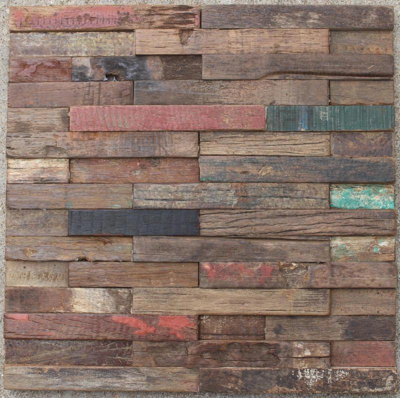 Strip Old Ship Wood Wall Tile Log Wooden Mosaic Tiles For