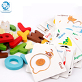 Деревянные игрушки игрушки для детей Буквенно-Цифровые познавательные игрушки игра в карты Монтессори образования puzzle игрушки Инициация Бесплатная доставка