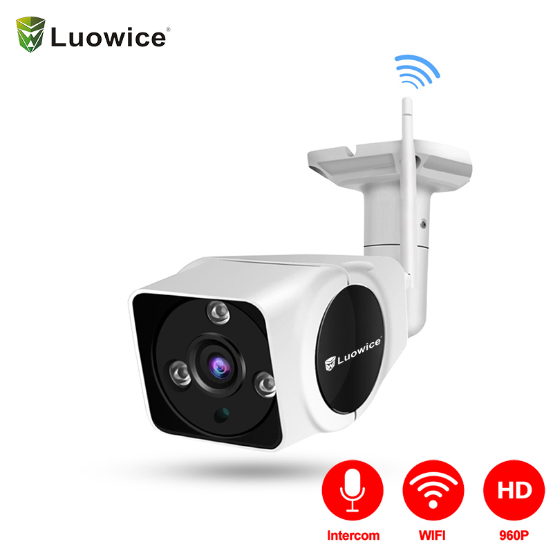 Intercom Function Wireless Security Camera with WiFi IP Camera 50ft Night Vision and Built in 16G Indoor/Outdoor IP66 light
