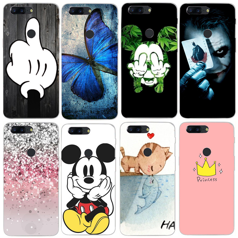 Soft Silicon back cover case for Oneplus 5 case Oneplus 5T case one plus 5 T Cover Protective Transparent Printed Phone Case