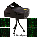 Free shipping ! 4 in 1 Mini Projector Red &Green DJ Disco Light Stage Xmas Party Laser Lighting Show With Tripod EU US plug