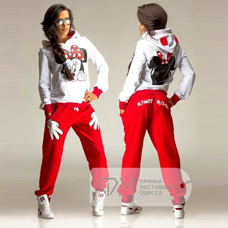 YMYW Hoodies Autumn Clothing Tracksuit Two-Pieces-Sets Long-Sleeve Printing Fashion Women title=