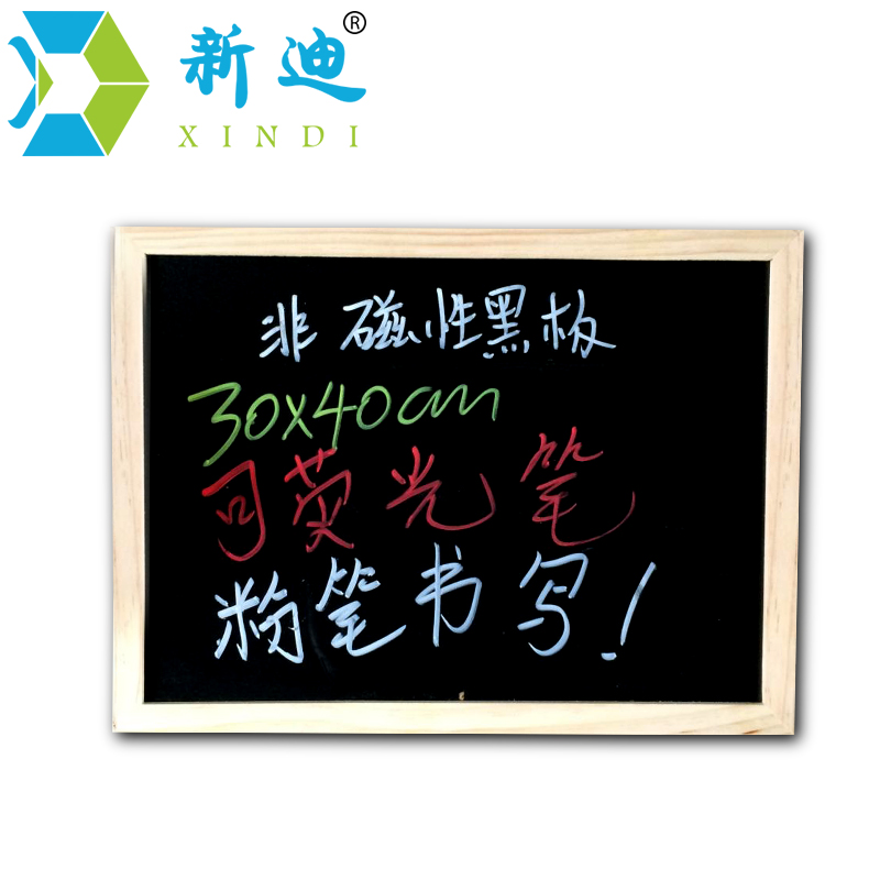 New 2018 Wood Blackboard Kitchen Chalkboard Office Supplier 30*40cm MDF Board Factory Firect Sell Home Decorative Free Shipping free shipping 2017 natural bulletin combination cork board and chalk blackboard kitchen office supplier 30 40cm home decorative
