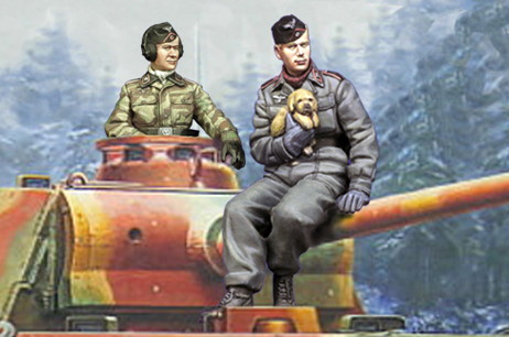 1:35 deutsch Panzer <font><b>Crew</b></font> Set (2 Figuren) image