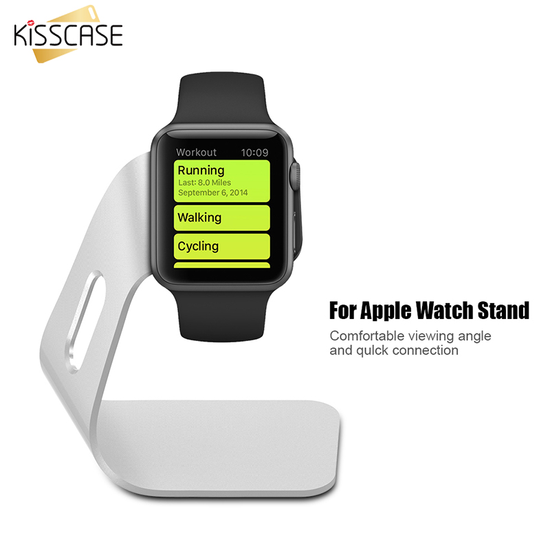 KISSCASE Aluminum Alloy Desk Charger Stand For Apple Watch Stable Charging <font><b>Dock</b></font> Holder <font><b>Station</b></font> For Watch 42mm 38mm Holder Stand image