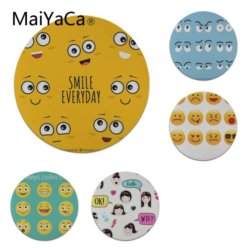 MaiYaCa Quality Cartoon Face Expression Round Mouse pad PC Computer mat Size for 20x20cm 22x22cm Professional Gaming Mouse Pad