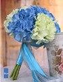 Белый/розовый/красный/синий/фиолетовый Европейском стиле романтический свадебный букет для свадьбы цветок аксессуары искусственные ручной работы букет
