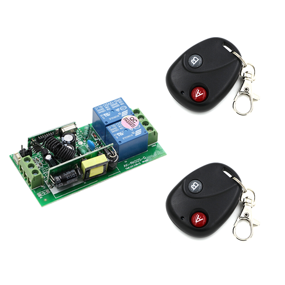 Wireless Remote Control Switch AC 250V 220V 110V 85V 2CH Relay Receiver Module and 2pcs RF Remote Controls Transmitter New new arrival ac 110v 220v relay 1ch wireless remote control switch receiver module and rf remote controls 315 433mhz
